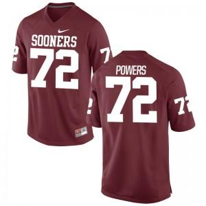 Game Mens Oklahoma Jerseys S-3XL of Ben Powers - Crimson