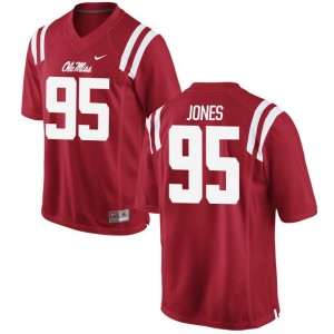 Ole Miss Benito Jones Jerseys Red For Men Game Jerseys