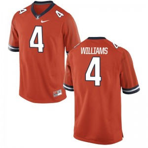 Bennett Williams Fighting Illini Orange For Men Game Jersey