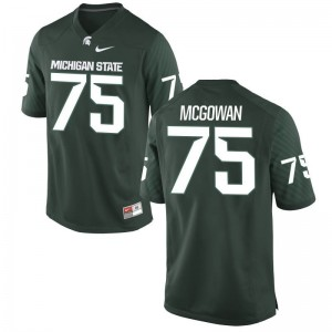 Benny McGowan MSU Men Game Green Football Jerseys