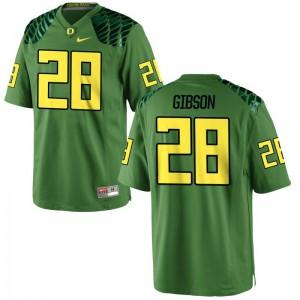 University of Oregon Billy Gibson Game Mens Jerseys - Apple Green