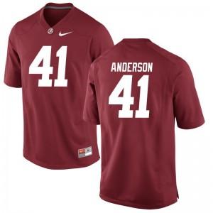 Blaine Anderson For Men Jerseys S-3XL Red Alabama Crimson Tide Game