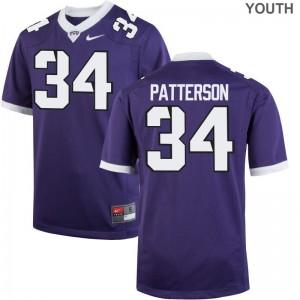 Blake Patterson Horned Frogs Jersey Kids Limited Purple