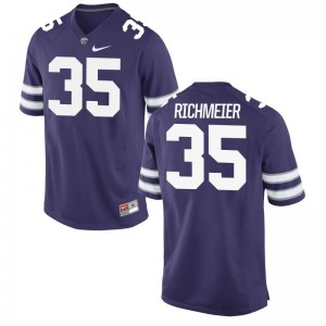 Kansas State Wildcats NCAA Jerseys of Blake Richmeier Purple Mens Game