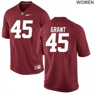 Alabama Crimson Tide Bo Grant Game Womens Jerseys - Red
