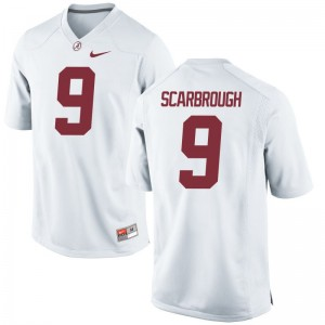 Game Bo Scarbrough Jerseys S-3XL University of Alabama Mens White