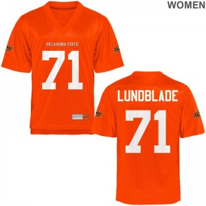 Oklahoma State Brad Lundblade Jerseys Game Orange Womens