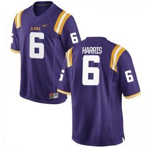 LSU Tigers Jerseys S-3XL Brandon Harris Game For Men - Purple
