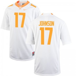 Brandon Johnson For Kids Jersey S-XL White Game Tennessee Volunteers