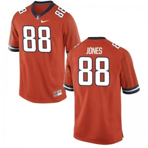Fighting Illini Orange For Men Game Brandon Jones Alumni Jerseys