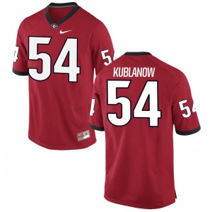 For Men Brandon Kublanow Jerseys University of Georgia Game Red