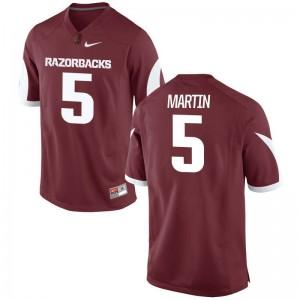 Brandon Martin Arkansas Razorbacks Jersey Game Cardinal Men