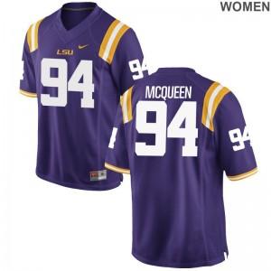 Women Brandon McQueen Jerseys Louisiana State Tigers Game Purple