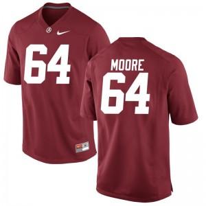 Brandon Moore Bama For Men Game Red Jerseys