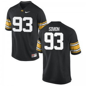 Hawkeyes Brandon Simon For Men Game College Jersey Black