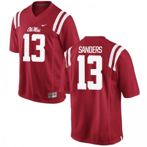 Braylon Sanders Rebels Football Jersey Men Game - Red