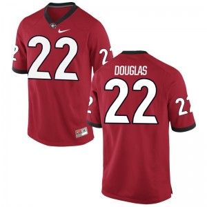 S-3XL UGA Bulldogs Brendan Douglas Jerseys NCAA Mens Limited Red Jerseys