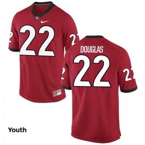 Game Youth(Kids) Red University of Georgia College Jerseys of Brendan Douglas