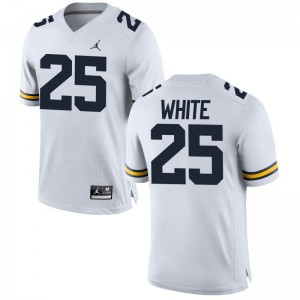 Wolverines Limited Brendan White Ladies Jordan White NCAA Jersey