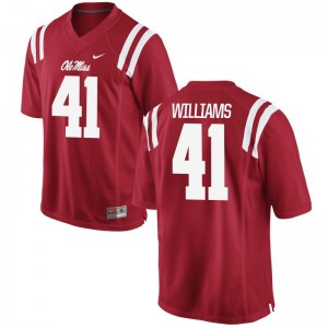 Brenden Williams University of Mississippi Jersey Men Game Red