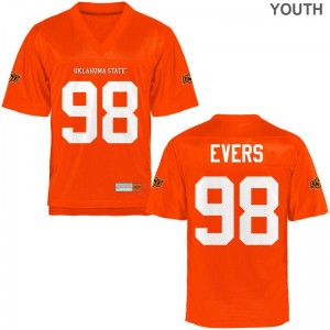 Brendon Evers Youth Jerseys S-XL Limited OK State - Orange