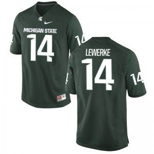Game Green Brian Lewerke Player Jerseys Men Michigan State