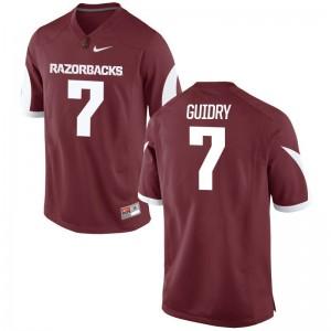 Arkansas Razorbacks Briston Guidry Jersey Game Men Jersey - Cardinal