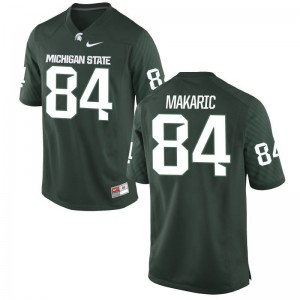 Game Mens Green Spartans Football Jerseys Brock Makaric