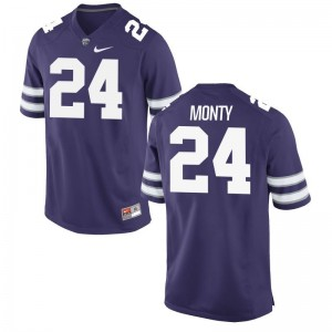 Kansas State Brock Monty For Men Game High School Jerseys Purple