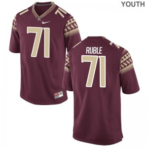 Seminoles Brock Ruble Youth Garnet Game Player Jersey