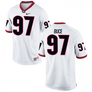 Brooks Buce UGA Bulldogs Jerseys Men Limited White