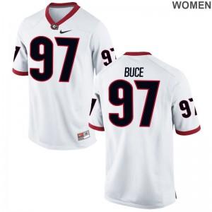 Georgia Bulldogs Brooks Buce Jerseys Women Limited White Jerseys