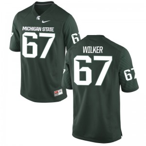Michigan State University Bryce Wilker Men Game Green Jerseys