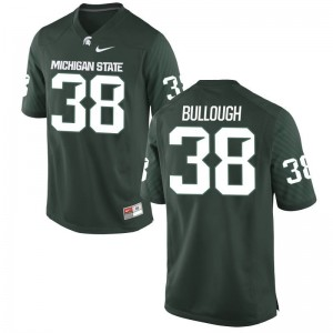 Michigan State Spartans Byron Bullough College Jerseys Green Game For Men