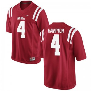 S-3XL Rebels C.J. Hampton Jersey Men Game Red Jersey