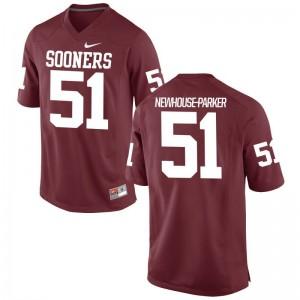 Cade Newhouse-Parker Oklahoma Sooners Mens Crimson Game Jerseys