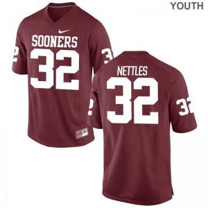Youth(Kids) Game Alumni OU Sooners Jerseys Caleb Nettles Crimson Jerseys