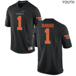 Calvin Bundage Football Jersey Youth OK State Limited Black