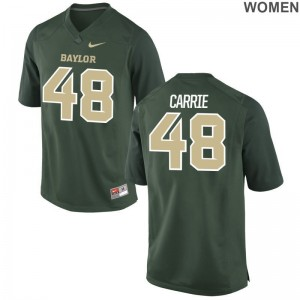 Miami Hurricanes Calvin Carrie Jersey S-2XL Green Game Women