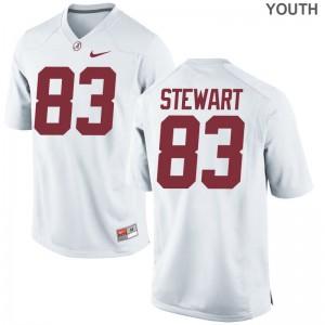 Cam Stewart Youth(Kids) White Jerseys Game University of Alabama