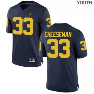 Camaron Cheeseman University of Michigan Jersey Youth Game Jordan Navy Alumni