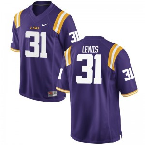 Tigers Jerseys of Cameron Lewis For Men Game - Purple