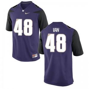 University of Washington High School Jerseys Cameron Van Winkle Game Mens Purple