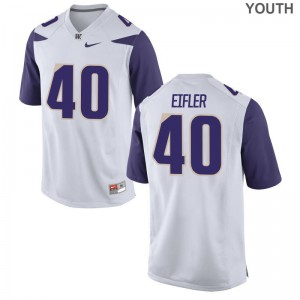 Washington Huskies Jersey of Camilo Eifler Limited White Youth(Kids)
