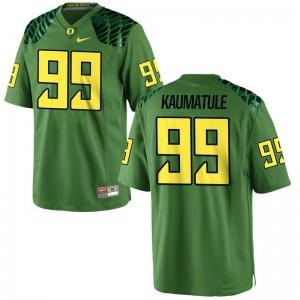 Youth Game Oregon Ducks Jerseys S-XL of Canton Kaumatule - Apple Green
