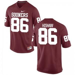 For Men Game NCAA Sooners Jersey Carlos Hishaw Crimson Jersey