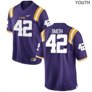 Carlton Smith Jerseys For Kids LSU Tigers Game - Purple