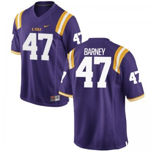 Purple Game Chance Barney Jersey Men Louisiana State Tigers