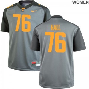 Chance Hall Tennessee Ladies Jersey Gray College Limited Jersey