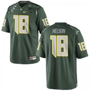 Charles Nelson Ducks Mens Game Football Jersey - Green
